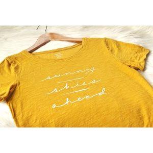 Old Navy Shirt Everywear Yellow Sunny Skies Ahead